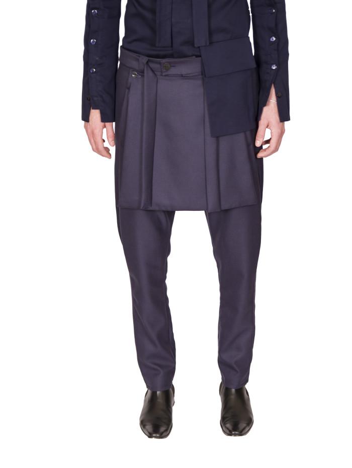 Blue Grey Mark Trouser 4 1
